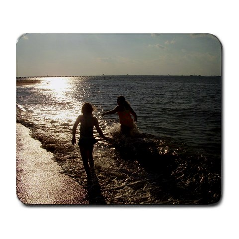 My Girls At The Beach By Mitzi Crum Herron   Large Mousepad   Hf489elr30b6   Www Artscow Com Front