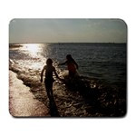 My girls at the beach - Large Mousepad