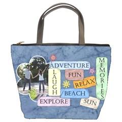 Beach Bag #1 By Lil    Bucket Bag   4kx7mmd8i0ex   Www Artscow Com Front