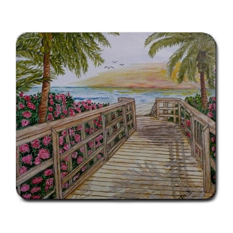 Stairway To The Beach By Dalia Lemus   Large Mousepad   0bv9hg3aspym   Www Artscow Com Front