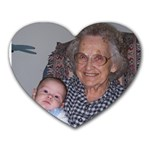 Great-grandma and Alek - Heart Mousepad
