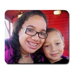 me and bubba - Large Mousepad