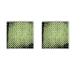Green Diamond Plate - Cufflinks (Square)