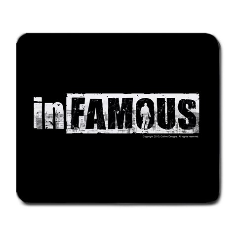 Infamous Mousepad By Mark   Large Mousepad   F06axpkyu3yy   Www Artscow Com Front