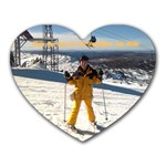 ski mt perisher - Heart Mousepad