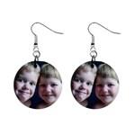 My kids on earrings! - 1  Button Earrings