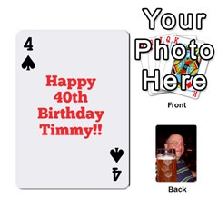 Timmy Cards By Kelly Corder   Playing Cards 54 Designs   U8mfcx8c1kd1   Www Artscow Com Front - Spade4