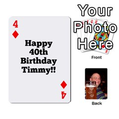Timmy Cards By Kelly Corder   Playing Cards 54 Designs   U8mfcx8c1kd1   Www Artscow Com Front - Diamond4