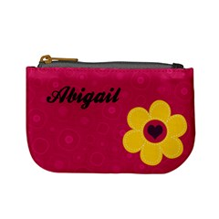 Abigail Flower Purse By Keri   Mini Coin Purse   Ivx63s6ncd99   Www Artscow Com Front