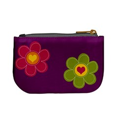Abigail Flower Purse By Keri   Mini Coin Purse   Ivx63s6ncd99   Www Artscow Com Back