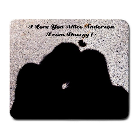 Aliice And Dave By Dave Aubrey   Collage Mousepad   Fkc4he18dnf0   Www Artscow Com 9.25 x7.75 Mousepad - 1