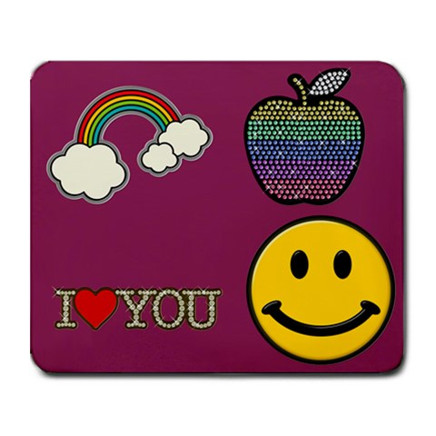 Smiley Face By Sherry Equality Strother   Collage Mousepad   10w9zc6m7nhn   Www Artscow Com 9.25 x7.75  Mousepad - 1