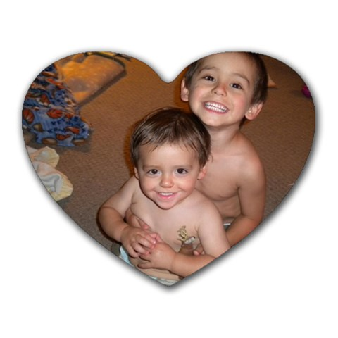 My Boys Are My Heart By Erin Caldwell Robello   Heart Mousepad   0xxdoxncxdkh   Www Artscow Com Front