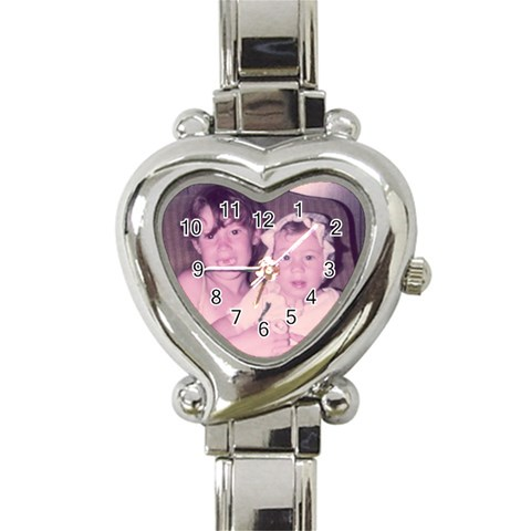 Watch For Mom By Kelly   Heart Italian Charm Watch   C5k7ap2nz74h   Www Artscow Com Front