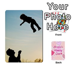 Memory Cards By Christina   Playing Cards 54 Designs   Sn9xkcxn394t   Www Artscow Com Front - Spade3