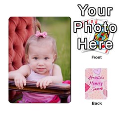 Memory Cards By Christina   Playing Cards 54 Designs   Sn9xkcxn394t   Www Artscow Com Front - Heart9