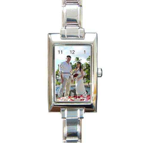 Ladies Watch By Joni Ellsworth   Rectangle Italian Charm Watch   Utp2s628medf   Www Artscow Com Front