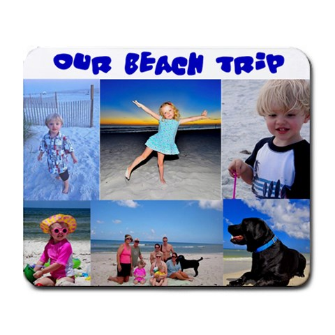 Shelly s Beach Trip Mousepad By Sonia Stewart   Collage Mousepad   Mzh75dh7788n   Www Artscow Com 9.25 x7.75 Mousepad - 1