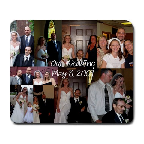 Our Wedding By Nicole Schuller Cramer   Collage Mousepad   Aaqj1v0cuzu1   Www Artscow Com 9.25 x7.75 Mousepad - 1