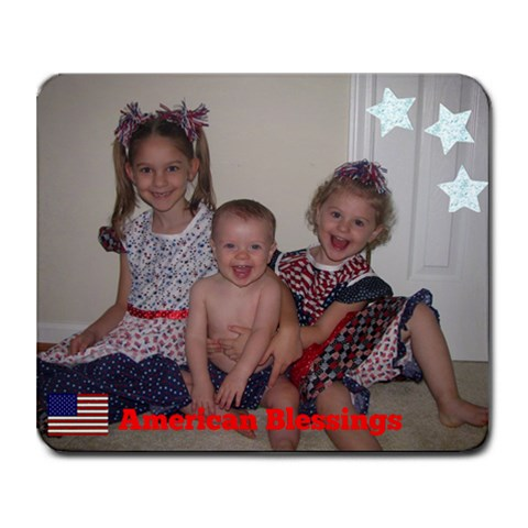 American Blessings By Stephanie Kyne   Collage Mousepad   Vw94sesvaads   Www Artscow Com 9.25 x7.75 Mousepad - 1