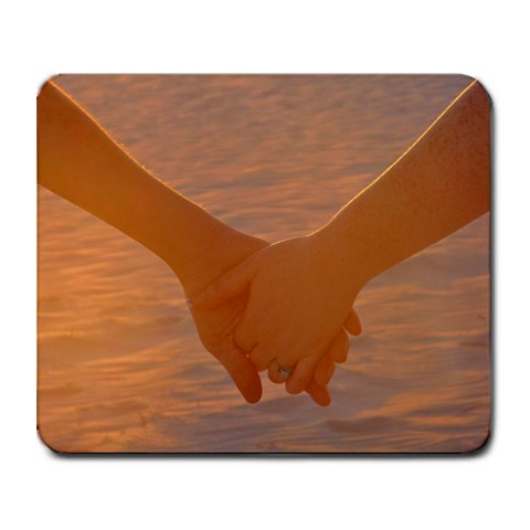 Holding Hands By Heather Farmer Crutcher   Collage Mousepad   Ila3pzx5g39o   Www Artscow Com 9.25 x7.75 Mousepad - 1
