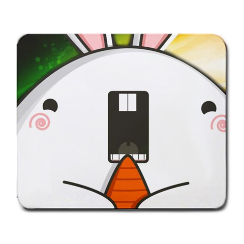 Happy Bunny By Nicholas Chang   Large Mousepad   L3m2mx4f79fm   Www Artscow Com Front