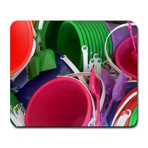 Colorful Pails By Shannon Youngblood Crowe   Large Mousepad   Culvjmtlwooo   Www Artscow Com Front