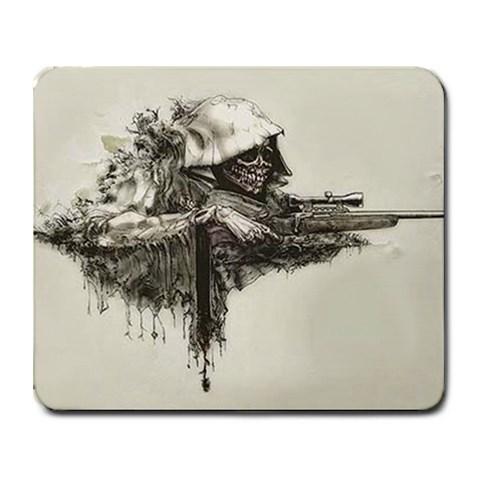 Grim Sniper By Jeremy Josephsen   Collage Mousepad   A083i2d1xj3i   Www Artscow Com 9.25 x7.75 Mousepad - 1