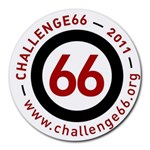 Challenge66 Charity Mousepad www.challenge66.org - Round Mousepad