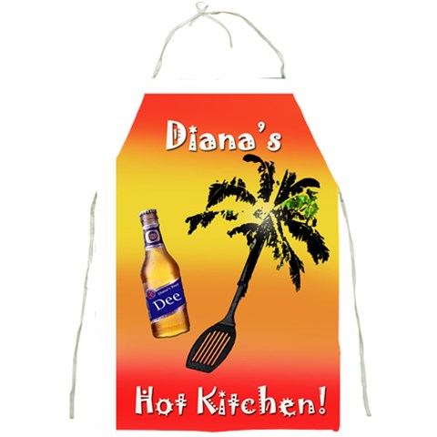 D Apron Hot In Kitchen By Diana P   Full Print Apron   1vu5zyp6934d   Www Artscow Com Front