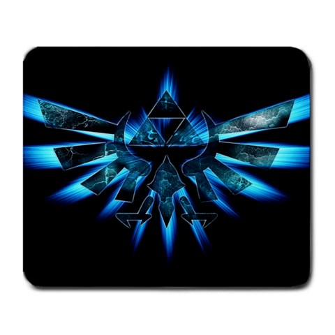 Blue Triforce By Nathan Daisao Borre   Large Mousepad   Zvm1vz9mt42f   Www Artscow Com Front