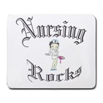 Cara s Nursing Rocks Design - Large Mousepad