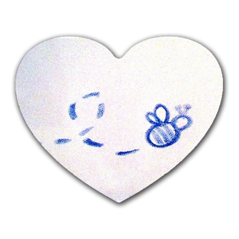 My Bumble Bee <3 By Rosio Preciado   Heart Mousepad   25mw0b5717sq   Www Artscow Com Front