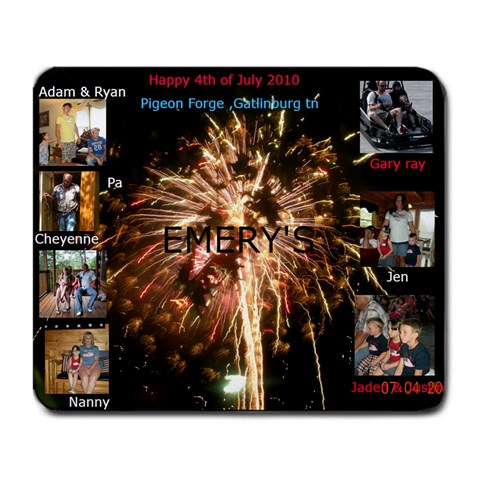 July Mouse Pad By Angela Emery   Large Mousepad   7tk2yu7ni0zz   Www Artscow Com Front