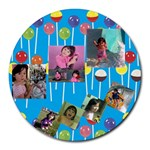 Jia - Collage Round Mousepad