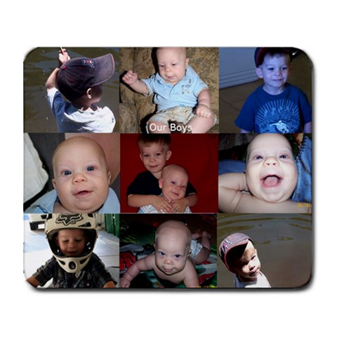 Frost Boys By Lisa Vivian Frost   Collage Mousepad   1ypypprfxkwa   Www Artscow Com 9.25 x7.75 Mousepad - 1