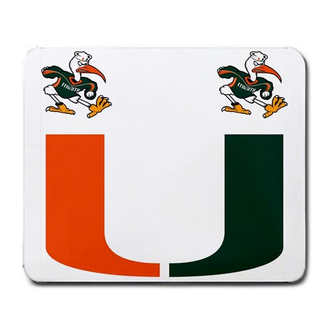 Miami Hurricanes By Jacob Rollin   Large Mousepad   A70t3zum1nzx   Www Artscow Com Front