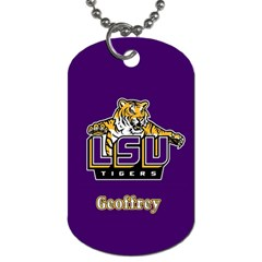 Geoffrey Lsu Saints By Kenneth   Dog Tag (two Sides)   Gzv2eiin50fs   Www Artscow Com Front