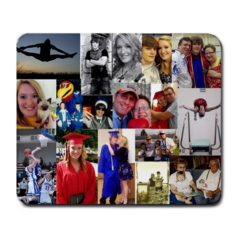 Family Collage By Christy Schmitz   Collage Mousepad   Ijkomiphknyl   Www Artscow Com 9.25 x7.75 Mousepad - 1