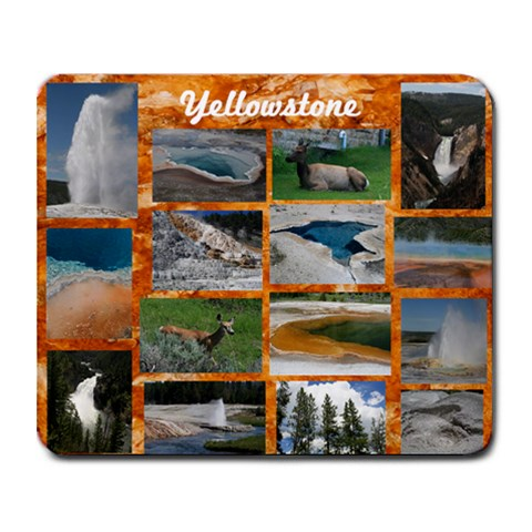 Yellowstone By Jeni Steeber   Collage Mousepad   Qtwjwzgkitkf   Www Artscow Com 9.25 x7.75 Mousepad - 1