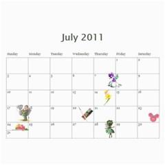 Calendar By Vanessa   Wall Calendar 11  X 8 5  (12 Months)   Wr88wp81yge2   Www Artscow Com Jul 2011