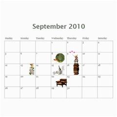 Calendar By Vanessa   Wall Calendar 11  X 8 5  (12 Months)   Wr88wp81yge2   Www Artscow Com Sep 2010