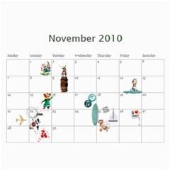 Calendar By Vanessa   Wall Calendar 11  X 8 5  (12 Months)   Wr88wp81yge2   Www Artscow Com Nov 2010