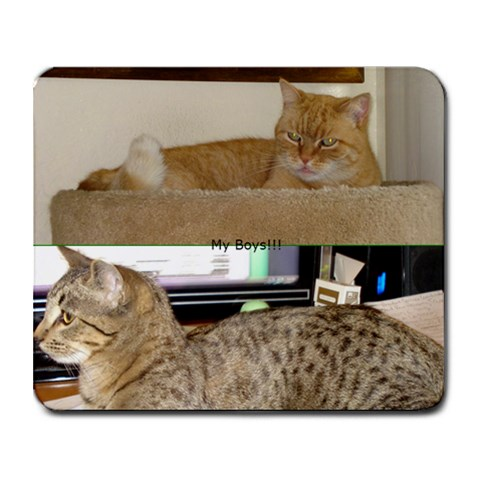 My Boys By Rebecca Dreyer   Collage Mousepad   Vz69irbudxp0   Www Artscow Com 9.25 x7.75 Mousepad - 1