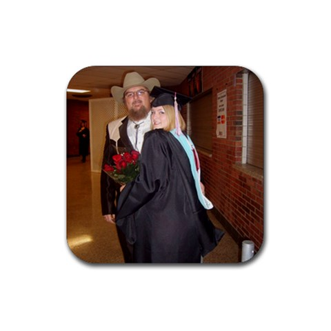 Poppy And The Graduate  Master s And Rank One By Sherry Gay   Rubber Coaster (square)   079z9jc7ki1m   Www Artscow Com Front