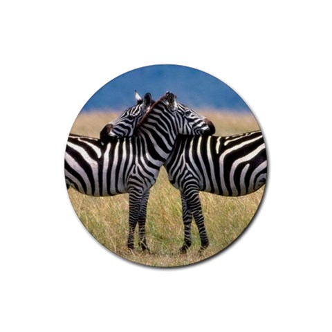 Zebra By Jessica Huettl   Rubber Coaster (round)   5kaiw1bb04ei   Www Artscow Com Front