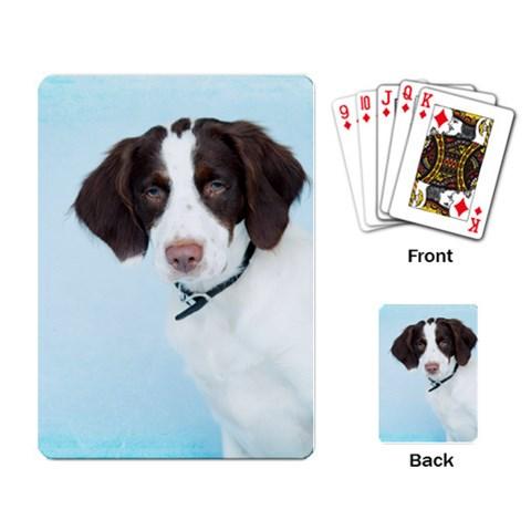 Brittany Spaniel By Melanie Darling   Playing Cards Single Design   J8g5fzafh4l7   Www Artscow Com Back