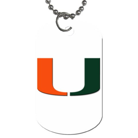 Miami Hurricanes By Jacob Rollin   Dog Tag (one Side)   5g8o5rbzw0kw   Www Artscow Com Front