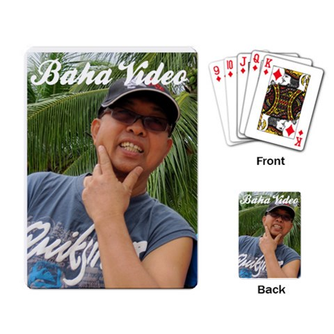 Bahavideo By Fauziah   Playing Cards Single Design   10cg8qpela30   Www Artscow Com Back