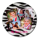 Haley & Hannah - Collage Round Mousepad